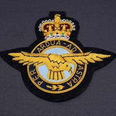 RAF wire blazer badge