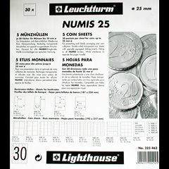Numis coin pages for up to 25mm coins