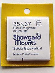 35mm by 37mm Showgard Stamp Mounts