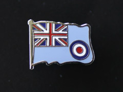 RAF Ensign lapel badge